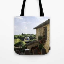 A Glass of Wine in Tuscany Tote Bag
