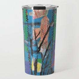Tres arbres esquizos amb verd i blau Travel Mug