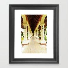 Palace Pathway Framed Art Print