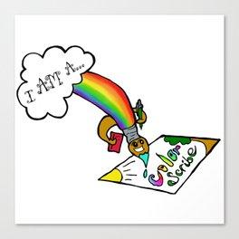 I Am a Color Scribe Canvas Print