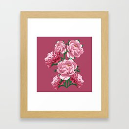 Pretty In Pink Peony Blossoms Framed Art Print