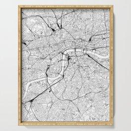 London White Map Serving Tray