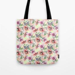 Elegant pink coral modern floral botanical illustration Tote Bag