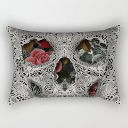 Lace Skull 2 Rectangular Pillow