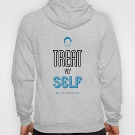 Tom Haverford, Typography Print, Parks and Recreation, TV Quote, Television - Treat Yo Self Hoody