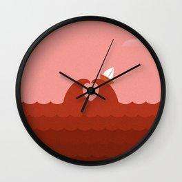 Sailing Through The Sea of Love Wall Clock