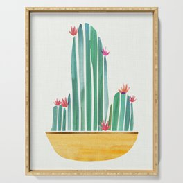 Tiny Cactus Blossoms Serving Tray