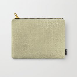 Simply Metallic in White Gold Carry-All Pouch