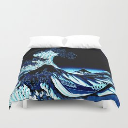 the Great Wave Blue Duvet Cover
