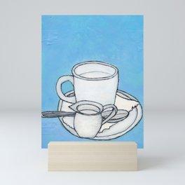 coffee and spoon Mini Art Print