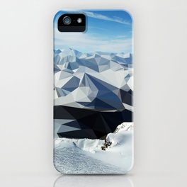 low poly mountains iPhone Case