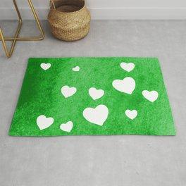 Green Hearts Rug