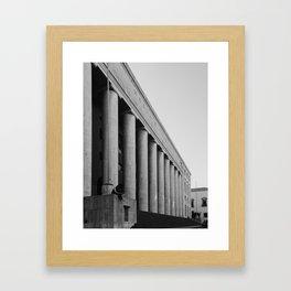 Italian rationalism, Palermo Palazzo delle Poste Framed Art Print