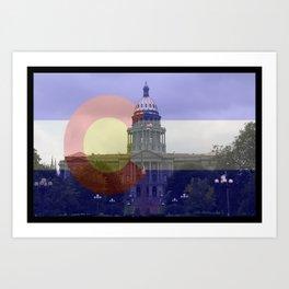 Colorado proud native life 5280 Art Print