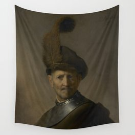 An Old Man in Military Costume Wall Tapestry