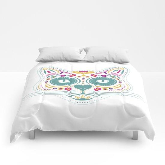 Gato De Los Muertos Comforters
