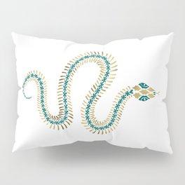 Snake Skeleton – Emerald & Gold Pillow Sham