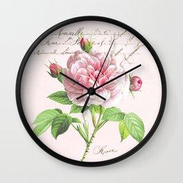 Paris Rose Wall Clock