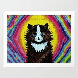 "Louis Wain's Cats ""Psychedelic Rainbow Cat"" Art Print"