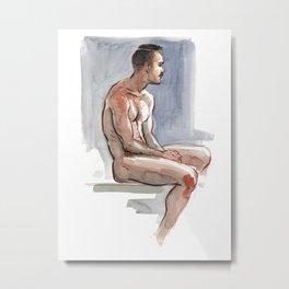 JORDAN, Nude Male by Frank-Joseph Metal Print