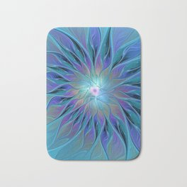 Decorative Flower Fractal Bath Mat
