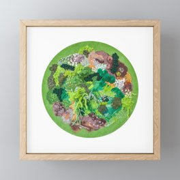 Moss Garden Framed Mini Art Print