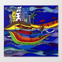 Vamos A La Playa Canvas Print