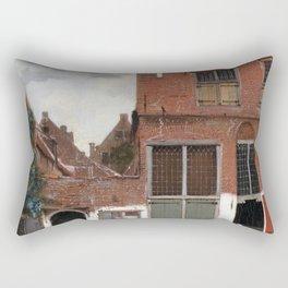 Johannes Vermeer - The Little Street Rectangular Pillow