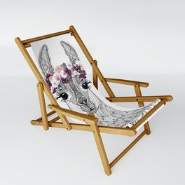 FLOWER GIRL ALPACA Sling Chair