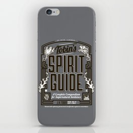 The Ghostbusters Greatest Resource: Tobin's Spirit Guide. iPhone Skin