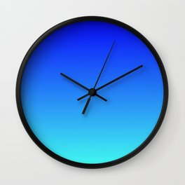 Caribbean Water Gradient Wall Clock