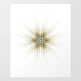 Yellow cute star dots abstract pattern Art Print