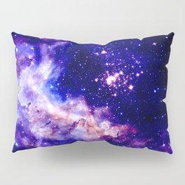 indigo galaxy : Celestial Fireworks Pillow Sham