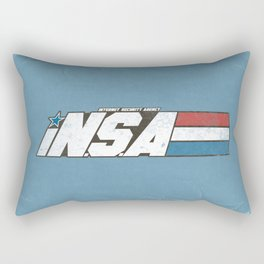 iN.S.A - iNternet Security Agency Rectangular Pillow