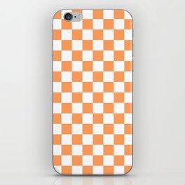 Gingham Orange Mango Checked Pattern iPhone Skin
