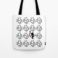keith haring Tote Bags featuring Haring - étoiles W. #2 by Krikoui