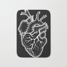 Anatomical heart Bath Mat