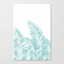 Palm Leaves Island Paradise Canvas Print