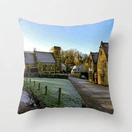 Frosty Snowshill Throw Pillow