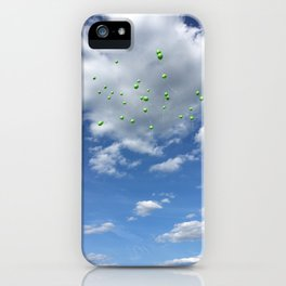 Lyme Green Balloon Launch - Ticks :( iPhone Case