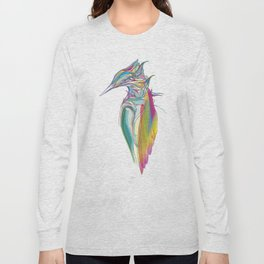 Kingfisher 1g. Full color on white background-(Red eyes series) Long Sleeve T-shirt