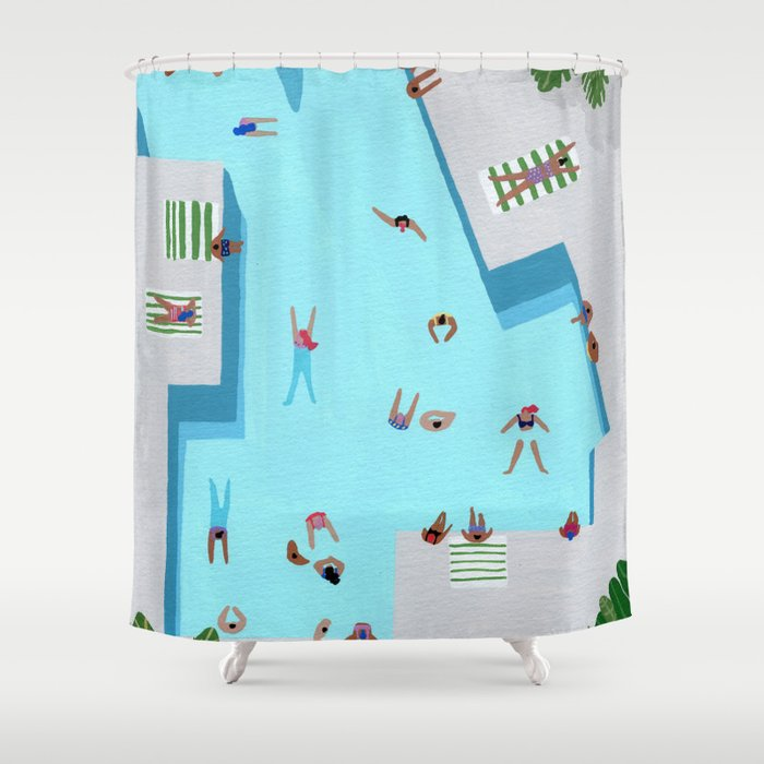 Crisp cut swim Shower Curtain