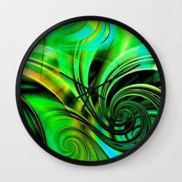 Curls Deluxe Green Wall Clock