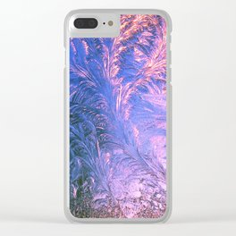 Ice Fractals Clear iPhone Case