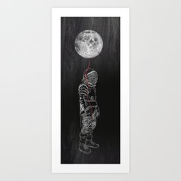 Moon Balloon 02 Art Print