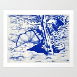 AK47 Beach Party Art Print