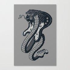 Snakeuitar Canvas Print