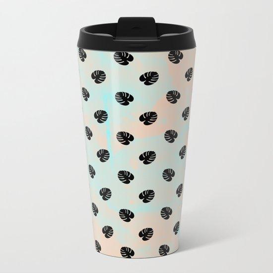 Mini Monstera Theme Metal Travel Mug