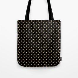 Gold & Black Polka Dots Tote Bag