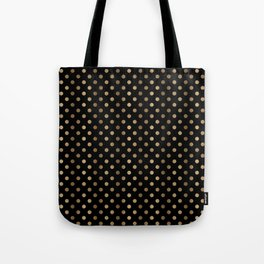 Gold & Black Polka Dots Tote Bag
